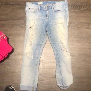 Gap light wash distressed jeans! Size 28!